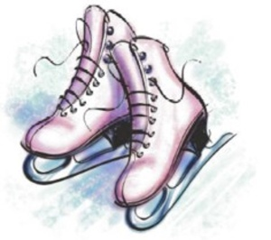 Drawing of figure skates